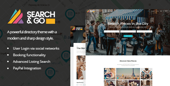 Search & Go Wordpress Theme