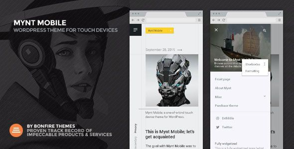 Mynt Mobile Wordpress Theme
