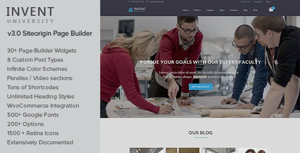 Invent Wordpress Theme