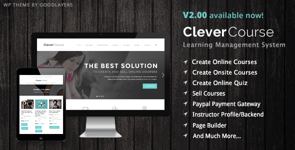 Clever Course WordPress theme