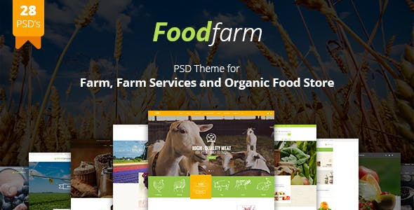 FoodFarm WordPress Theme