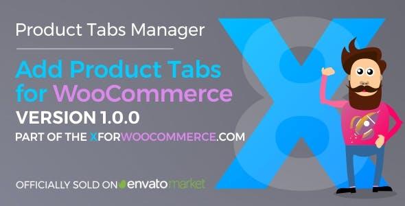 Add Product Tabs for WooCommerce Wordpress plugin