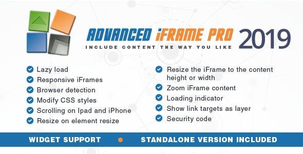 Advanced iFrame Pro Wordpress Plugin
