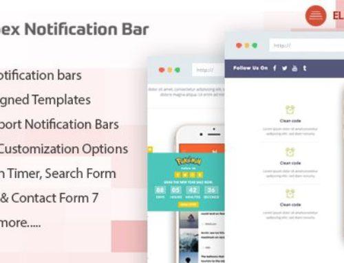 Apex Notification Bar – Responsive Notification Bar WordPress Plugin