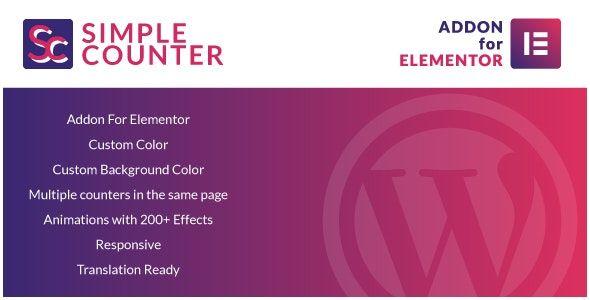 Simple Counters for Elementor Wordpress Plugin