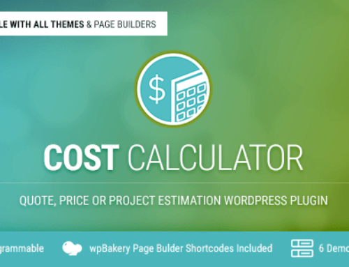 Cost Calculator WordPress Plugin v2.2.1